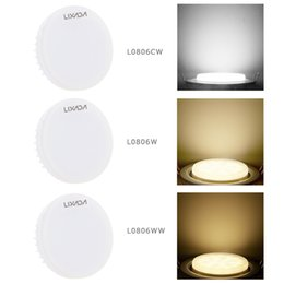lamp gx53 Promo Codes - GX53 Bulb SMD2835 Epistar LEDs 580LM Decorative LED Spotlight Ceiling Lights 7W Night lamp AC100-240V LED lights IP44 Waterproof