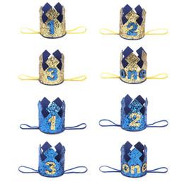 2 Year Old Birthday Gifts Rabatt Blue Gold Boy Erster Geburtstag Hut Glitter Princess Crown Nummer