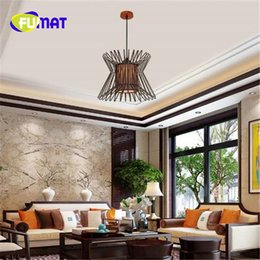 Wholesale Birdcage Style Lighting - FUMAT New Chinese Style Birdcage Lamp Modern Simple Chandelier Individuality Creative Living Room Bedroom Light Free Shipping