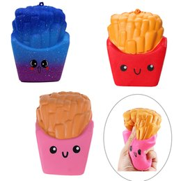 Wholesale new squishies - New Slow Rising Squishies High Quality Kawaii Cute Jumbo French Fries Soft Scented Bread Cake Squishy Stretch Kid Toy Freee DHL FD0015