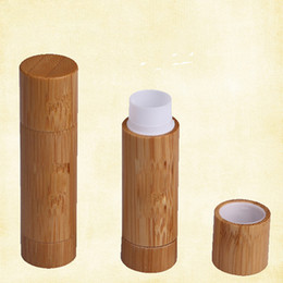 Wholesale Lipstick Tube Empty - 5.5g Bamboo Lip Stick Tubes Empty Lip Gross Container Lipstick Tube DIY Cosmetic Containers Lip Balm Tubes