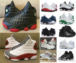 Wholesale Cheap Shoes For Winter - Cheap Basketball Shoes 13 Chicago bred mens sneaker 13s Bordeaux black cat sports shoes hologram barons discount shoes for man