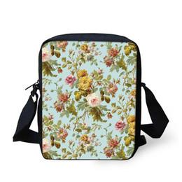 02f19cbe8762f kinder blumenschultasche Rabatt Blume Blumenmuster Print Messenger Frauen  Schule Männer Innen Slot Tasche Kinder Casual Case