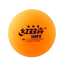 Buen negocio Alta calidad 1 caja 6 piezas 3 estrellas DHS 40MM Tenis de mesa olímpicos NaranjaPerlas largas Durable para la competencia desde fabricantes