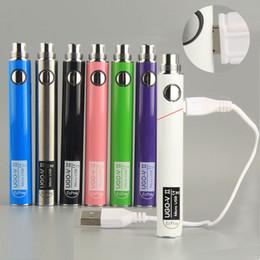 2020 paso de la batería de evod UGO-V II Vape Pen Battery Batería de precalentamiento de rosca 510 E Cig Recargable evod 650 900mAh con cable de paso USB micro para vaporizador rebajas paso de la batería de evod