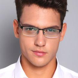 lunettes lindberg Promotion 2019 Nouveaux Anti Lumière Bleu Lunettes Hommes Ordinateur Lunettes de Jeu Homme Bussiness Spectacles Cadres En Aluminium Clair Objectif Faux Lunettes