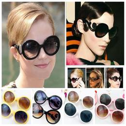 Wholesale Yellow Framed Sunglasses - women Retro clouds sunglasses plastic frame new sun glasses eyewear European American famous designer sunglass KKA4798