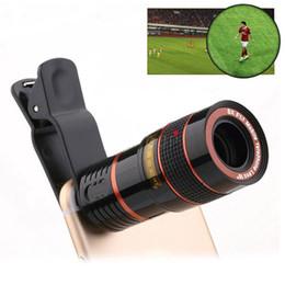 Iphone hd lens en Ligne-Clip Sur 12x Zoom Optique HD Télescope Portable Téléobjectif Lentille Pour iPhone Samsung Huawei Universel Mobile Téléphone