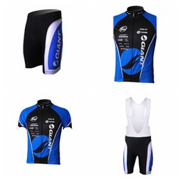 Wholesale Grey Lycra Suit - GIANT team Cycling Short Sleeves jersey (bib) shorts Sleeveless Vest sets Men's bike clothing breathable short-sleeved riding suit Q50844