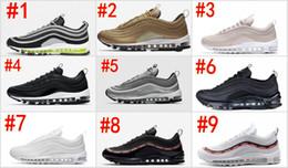 wholesale dealer a3259 9d2ba 97 Schuhe Triple weiß schwarz rosa Laufschuhe Og Metallic Gold Silber  Bullet Herren Trainer Damen Sportschuhe Turnschuhe Größe 36-45