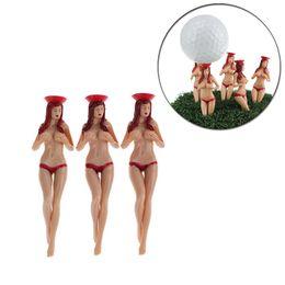 pacotes de golfe Desconto 6 unidades / pacote tamanho 75mm (2.95 polegada) Sexy Lady Bikini Tees de golfe presente mais novo projeto de golfe de plástico Tees Golf acessórios
