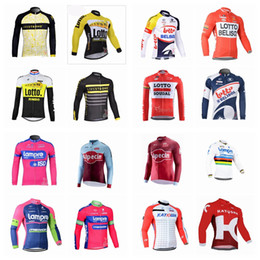 Wholesale lampre cycling - LAMPRE LOTTO New cycling jersey Breathable quick dry bike maillot ropa ciclismo Bicycle short sleeve shirts MTB bicicleta clothing A42301
