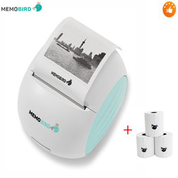 Wholesale portable barcode - New Printer MEMOBIRD G2 Wifi Portable Printer Barcode Wireless Photo Thermal Micro connector + 3 Roll Paper
