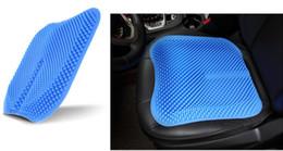 copri sedile auto blu Sconti Nuovo Car Auto Blue Silicone Mesh Cuscino Caover Protector Massaggio Ad Alta Memoria Traspirante Gel di Silice Coprisedili Auto Fit Per Toyota Jetta