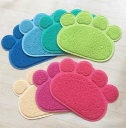 Wholesale waterproof mat blanket - Pet Sands Feeding Mat Pads Cat Dog Feed Placemat Summer Pets Pad Waterproof Non-Slip Bed Blanket Table Mats 4 2os gg