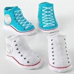 Wholesale Infant Shoe Brands - infant newborn socks winter cotton socks baby non-slip socks baby 0M-12M infant sock shoes Clothing accessories