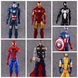 Ironman toy pvc online-7 Estilos 30 cm Capitán América Ironman Avengers Modelo PVC Figura de Acción de Superhéroe de Dibujos Animados Juguetes de Colección Artículos de Novedad CCA9572 20 unids