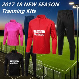 Wholesale Football Days - 2018 NEW MADRID Training SUITS KITS outfits Tracksuits FOOTBALL HOT FASHION Shirts Jerseys Wholesale Christmas day Gift ROSE CHEAP