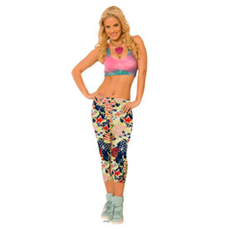 Wholesale Professional Workout - High Waist Fitness Yoga Sports Printed Stretch Cropped Leggings for Professional Running Workout Fitness Yoga JUN15