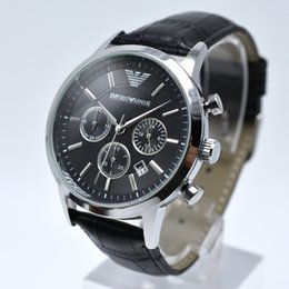 Wholesale Clock For Auto - All Dial-Up Work AAA Luxury Replica Watches Italian Fashion Brand Watch For Man casual dress watch leather Band Business Atmosphere Clock
