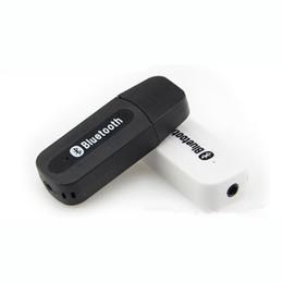 Interfaz usb bluetooth online-Adaptador Bluetooth USB Adaptador de música Altavoz Receptor Bluetooth Altavoz para el hogar Interfaz de audio de 3,5 mm Adaptador de audio inalámbrico con paquete al por menor