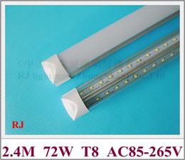 filamento dobro integrado compacto do bulbo do tubo do diodo emissor de luz do tubo do diodo emissor de luz T8 fileira 2400mm estilo do ângulo de feixe V de 72FT 270W 270W de