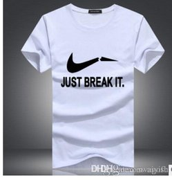 b29c16813 Men's T Shirt JUST BREAK IT letter print Fashion Summer New Clothing Cool  Man T-Shirt O-neck Tops Tees S-5XL