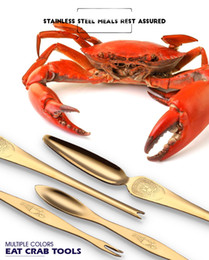 fruit picking tool Promo Codes - Stainless Steel Seafood Crab Lobster Fork Picks Handy Helper Nutcracker Needle Multifunction Seafood Tool Fruit Fork 2 Sizes