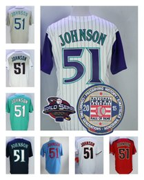 Wholesale Cooler Orange - Randy Johnson Jersey with Retirement 2015 Hall Of Fame Patch Arizona Montreal Seattle 51 Jerseys Cooperstown Flexbase Cool Base Stitched