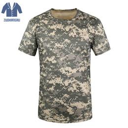 2019 армейская рубашка Zuoxiangru Breathable Camouflage Футболка Летняя Мужская Футболка Army Tactical Combat Dry Camo Camp Tees скидка армейская рубашка