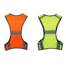 2019 uniformes de segurança 2018 Verão Unisex Segurança Colete Bolsa Reflexivo de Alta Visibilidade Jaqueta Ao Ar Livre Colete Uniforme Ajustável Cintura Uniforme Sportswear desconto uniformes de segurança