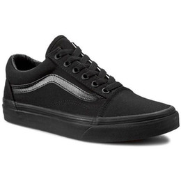 Wholesale Mens School - Black Sneakers For Women Mens Low Cut Skateboard school Casual Sneakers Old Skool Canvas Shoes 36-44