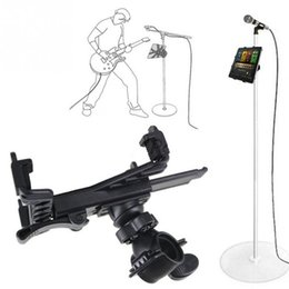 Wholesale Microphone Holder For Stand - Microphone Stand Holder Mount For Tablet Watching TV Holding Tool 7-11 inch Adjustable Microphone Mount Stand Holders