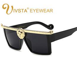 Argentina IVSTA 2017 Steampunk Gafas de sol Hombres Medusa Gold 3D Lion Head Diseñador de la marca Gafas de sol de gran tamaño Mujer Mujer Hipster Gótico cheap oversized hipster glasses Suministro