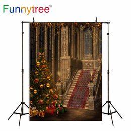 Deutschland Großhandelshintergrund für Fotostudiopalast Weihnachtsbaum-Weinlese-Treppen-Dekorationshintergrund photo photobooth cheap vintage christmas photo Versorgung
