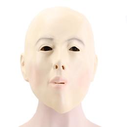 Máscara de cara de niña caliente online-Hanzi_masks ¡¡¡CALIENTE !! Calva Head Girl Mask Full Face Adultos látex Halloween Masquerade Cosplay Mujer Party Mask Ball Costume Props