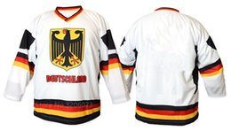 Team Germany Deutschland Retro White Black Ice Hockey Jersey Mens Stitched  Custom any Number and name Jerseys fff3ec6d2