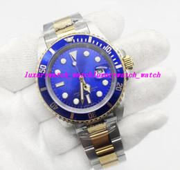 montres bleues pour hommes Promotion Montre de luxe Marque 116610 40MM Cadran Standard Mouvement Automatique bleu visage Boucle Hommes Sport Hommes Montres livraison gratuite