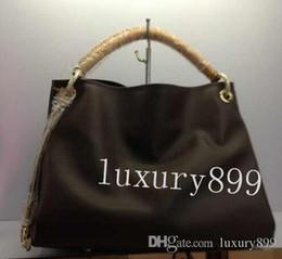 Top de couro europeu on-line-Mulheres de qualidade superior Europeu e americano marca nova senhora bolsa de couro Artística bolsa bolsa v099 oxidar pulseira de couro MM M40249