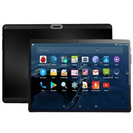 2019 android tablet pc sim karte Freies Verschiffen 10 Zoll Tablette PC 3G 4G LTE Octa-Kern-Android 7.0 OS 4GB RAM 32GB ROM Doppel-SIM-Karten 5.0MP 2.5D gehärtetes Glas günstig android tablet pc sim karte