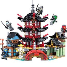 Wholesale ninja building toys - 737+pcs 2018 Ninja Temple DIY Building Block Sets Educational Toys for Kids Compatible LegoINGL NinjagoE