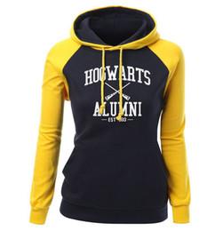 Argentina Hogwarts Alumni Letter Print Sudadera de mujer Otoño Invierno Fleece Raglan Hoody Marca Ropa Moda Pullover Harajuku supplier raglan sweatshirts Suministro