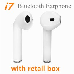 Wholesale Ear Phones Package - i7 Single and Twins Wireless Bluetooth Earphones For iphone X Twins Earbuds V4.2 Stereo Music Headset Phone Earpiece With Retail Package