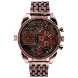 Wholesale Oulm Quartz - OULM men's watch European radium imported quartz military watch men stainless steel sports watch wholesale,1 order, epacket delivery