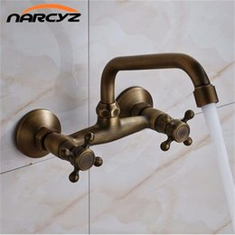 Wholesale Antique Wall Faucets - Into the wall faucet basin hot and cold copper wash basin faucet antique XT920