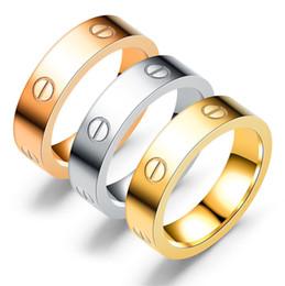 2019 edelstahl-ringe für mädchen Edelstahl Schraubendreher Ringe Brand Design Silber Rose Gold Frauen Mädchen Geschenke Mode Ring Schmuck Großhandel günstig edelstahl-ringe für mädchen
