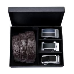 2019 herren-jeans DiBanGu Mode Lässig Herren Gürtel Braun Automatische Schnalle Gürtel für Männer Geschenk Luxus Rindsleder Männer Cowboy Jeans Gürtel günstig herren-jeans