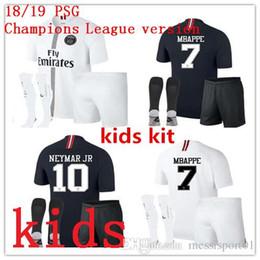 2018 Psg kids kit jersey 18 19 Champions League MBAPPE black white CAVANI  VERRATTI TRACKSUIT MARIA Jordam Soccer jerseys Paris maillot kit paris for  sale 604e5fee6