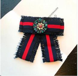 Big Bow bowknot spilla con diamanti ricamati per le donne Pin 2018 Real spilla con ricami Rose bowknot spille da