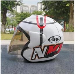 Wholesale Motorcycle Helmet Blue White - 2018 Top hot ARAI helmet motorcycle half helmet open face helmet casque motocross SIZE: S M L XL XXL,,Capacete